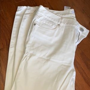 NEW - LOFT Winter White Jean Leggings